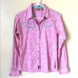 Vintage Wrangler Western Cowgirl Button Down Shirt